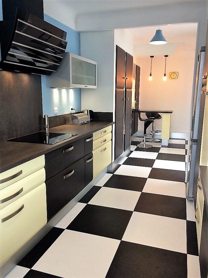 cuisine meubles en polymere plan de travail céramique