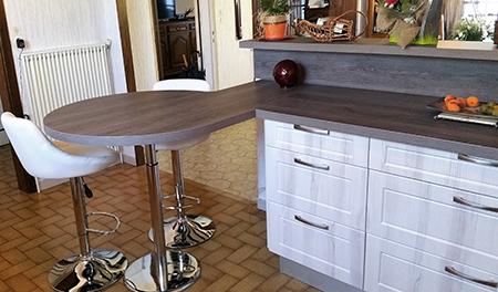 Hauteur plan de travail cuisine cool with hauteur plan de - Cuisiner le bar ...
