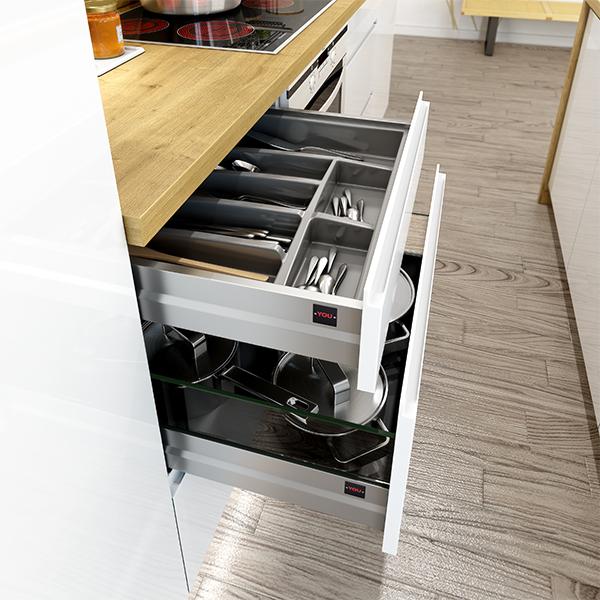Rangement Casserolier Cuisine: Rangement-tiroirs-metal-interieur-casserolier