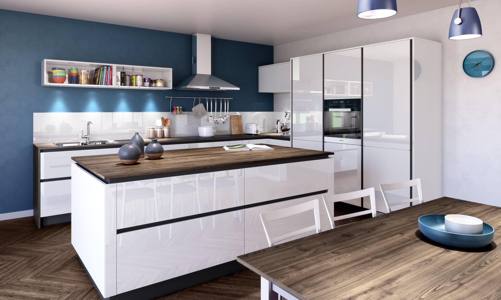 cuisine avec ilot sans poignee marie rodrigues cuisine et dressing charente maritime. Black Bedroom Furniture Sets. Home Design Ideas