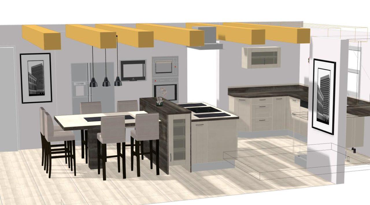 intégration-des-armoires-frigo-américain-et-fours