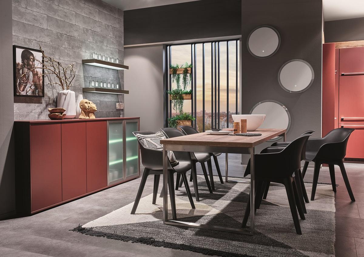 rangement pour le salon même harmonie des matières et des couleurs que pour la cuisine